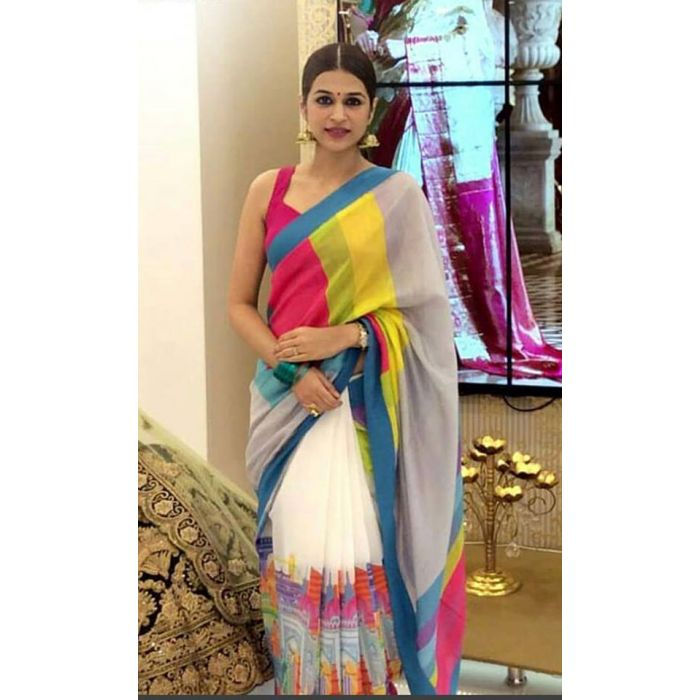 Multi color soft silk saree WS-2155