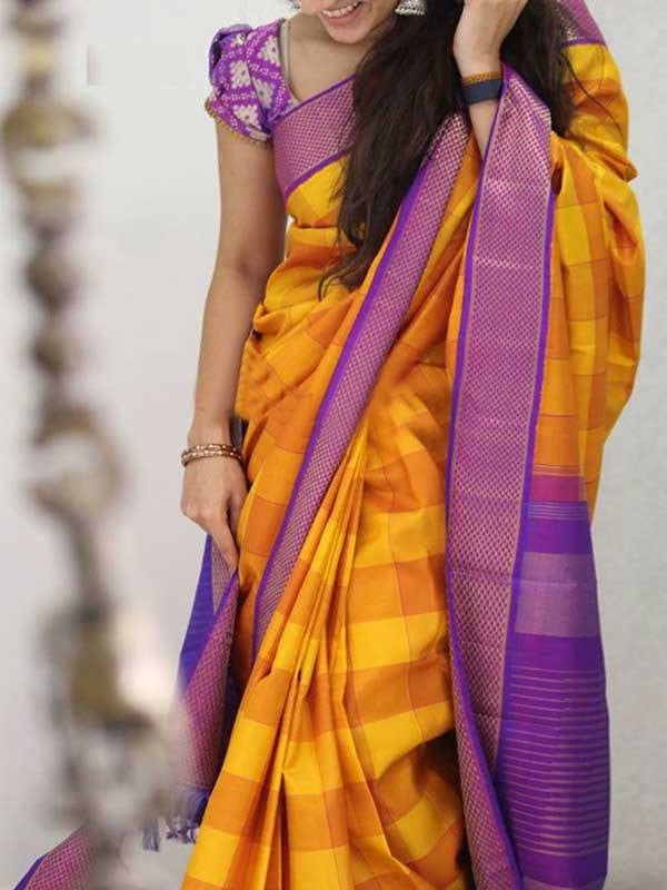 Multi color soft silk saree WS-2157