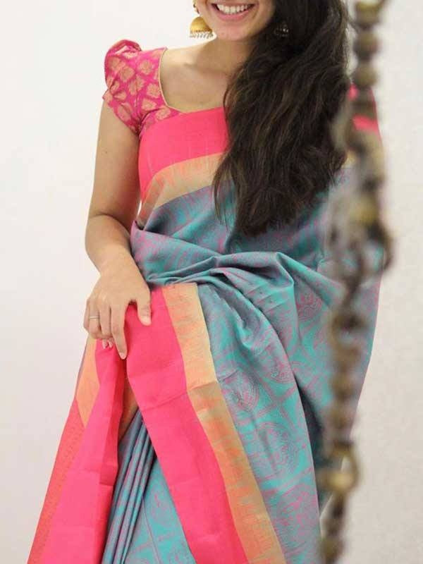Multi color soft silk saree WS-2163