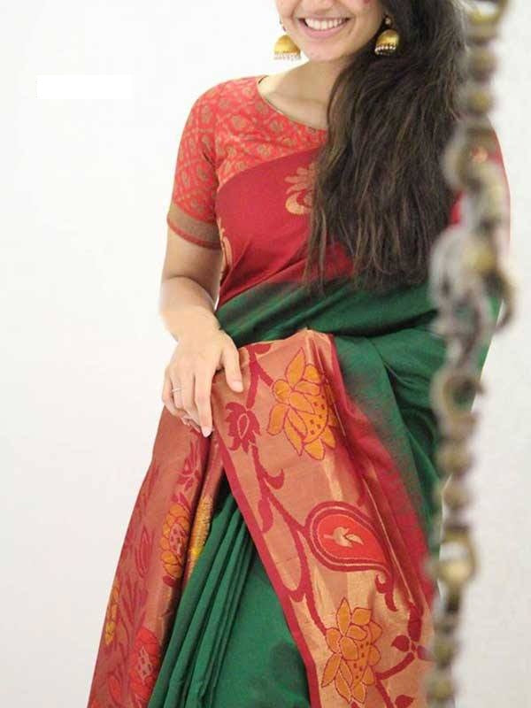 Multi color soft silk saree WS-2167