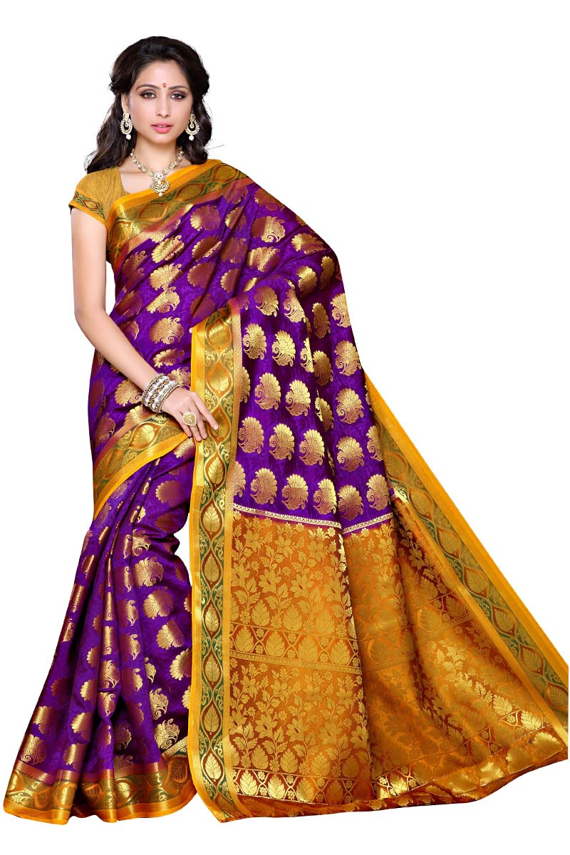 Multi color soft silk saree WS-2171