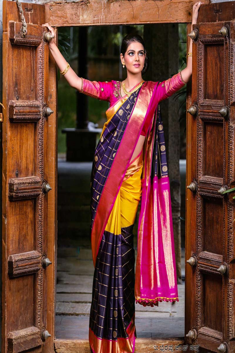 Multi color soft silk saree WS-2175