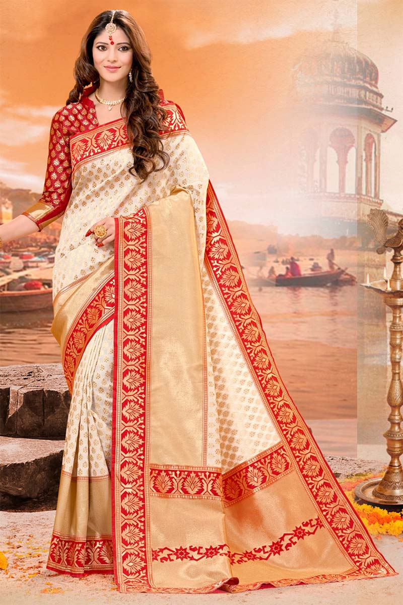 Multi color soft silk saree WS-2176
