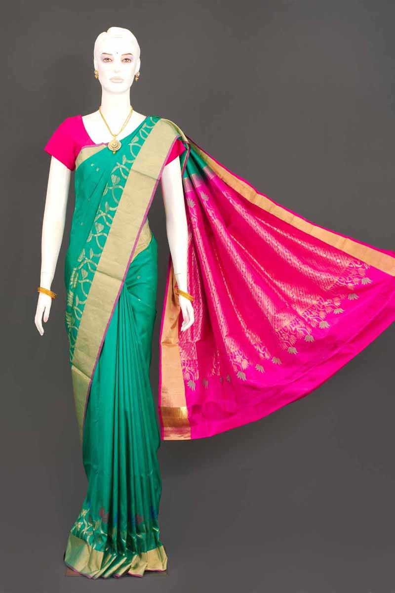 Multi color soft silk saree WS-2185