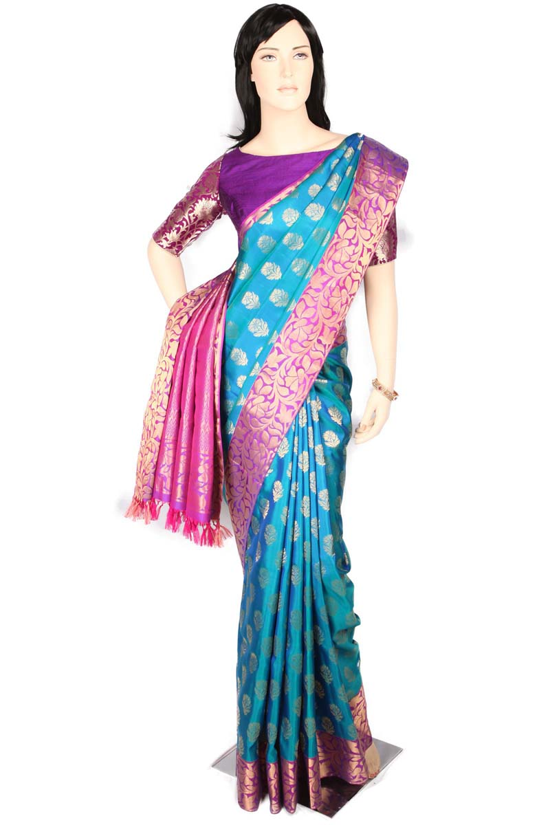 Multi color soft silk saree WS-2189