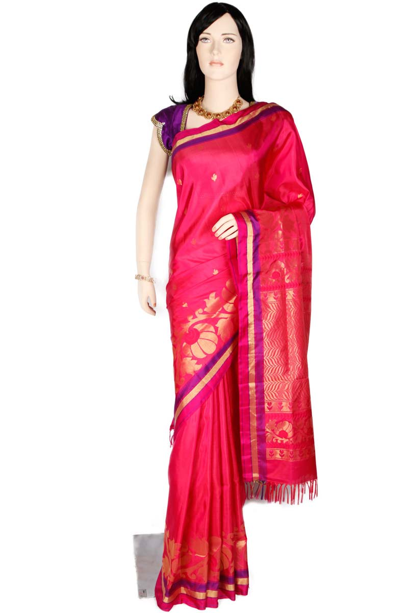 Multi color soft silk saree WS-2191