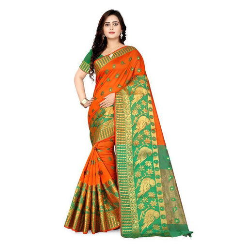 Orange Colour Designer Kanjivaram Saree Ws-1021