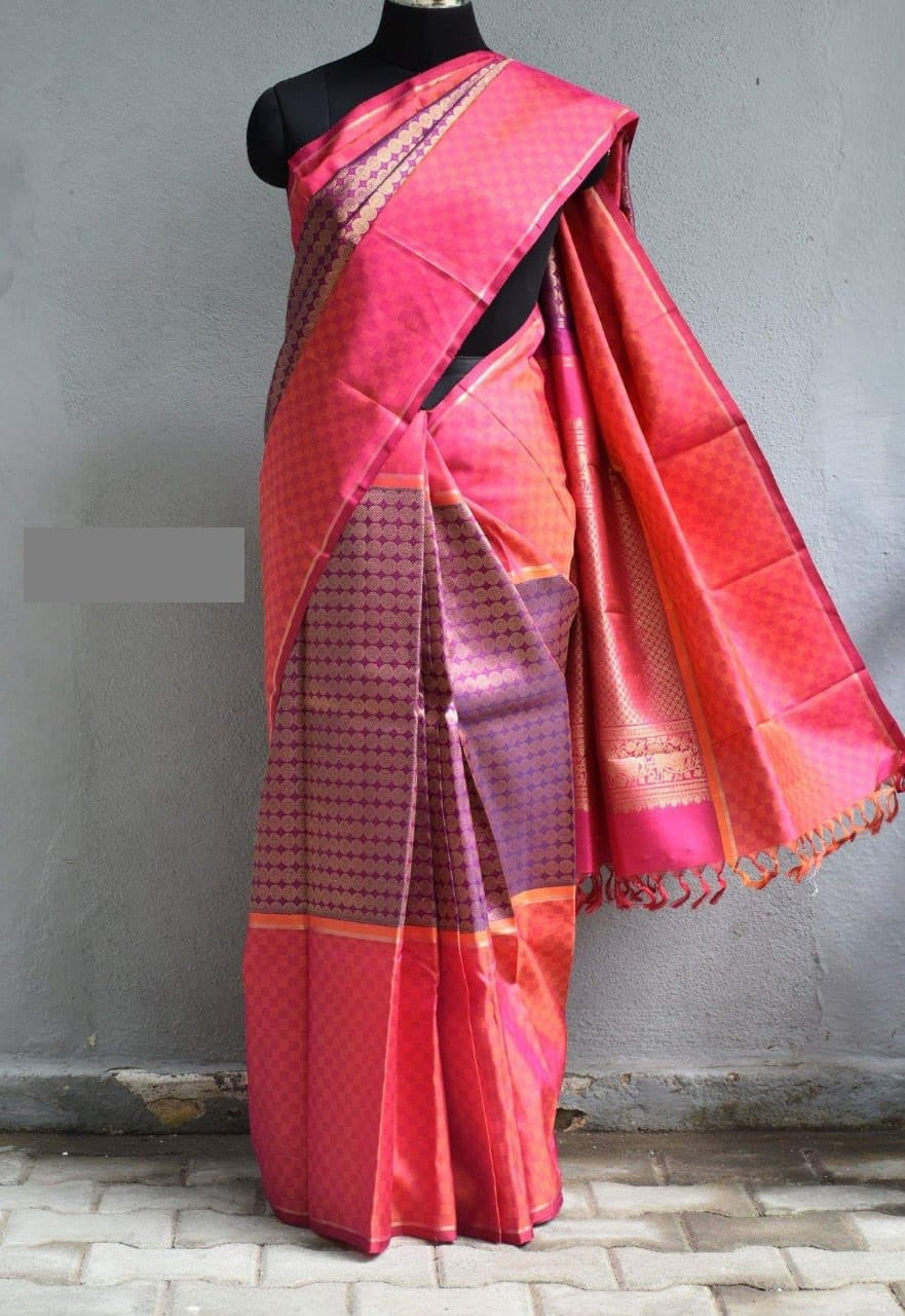Multi color soft silk saree WS-2221