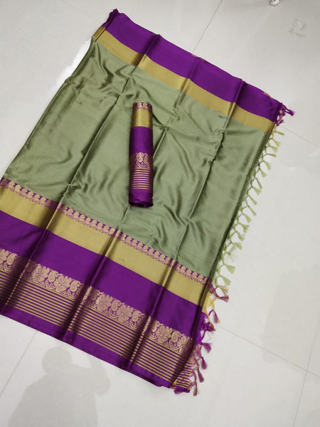 Elegance Key LimePie Color Soft Silk Designer Saree ws-4043
