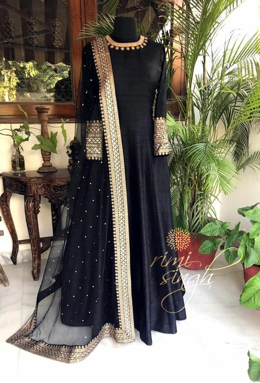 Black Color Designer Salwarsuit  ws-3017