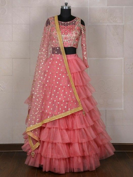 Light Pink  Color Designer lehenga choli ws-3018