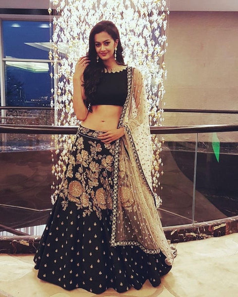 Awesome Black Color Designer lehenga choli ws-3019