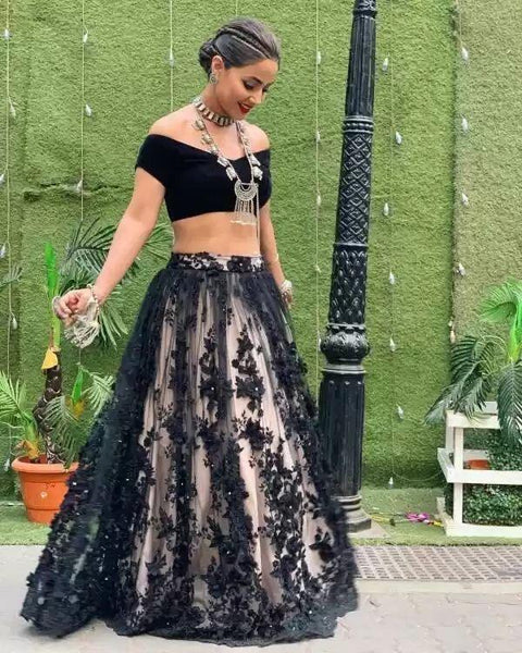Black  Color Designer lehenga choli ws-3022