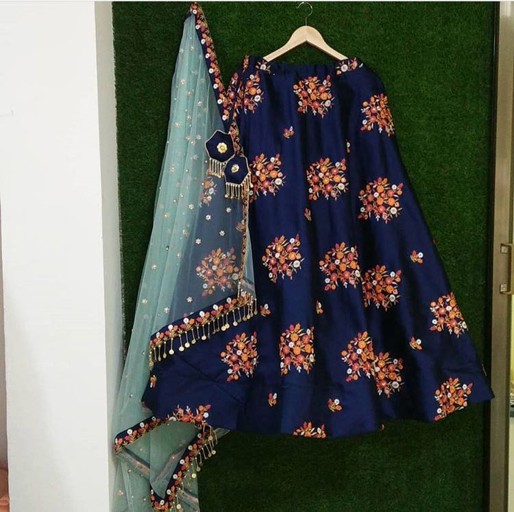 Navy Blue  Color Designer lehenga choli ws-3024