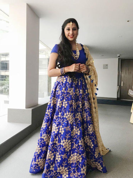 Royal Blue  Color Designer lehenga choli ws-3027