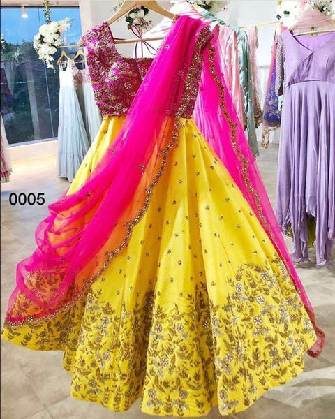 Yellow Color Designer lehenga choli ws-3028