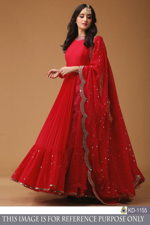 Red Color Designer Salwar Suit  ws-3033