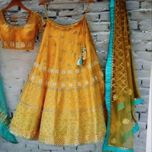 Yellow Color Designer lehenga choli ws-3039