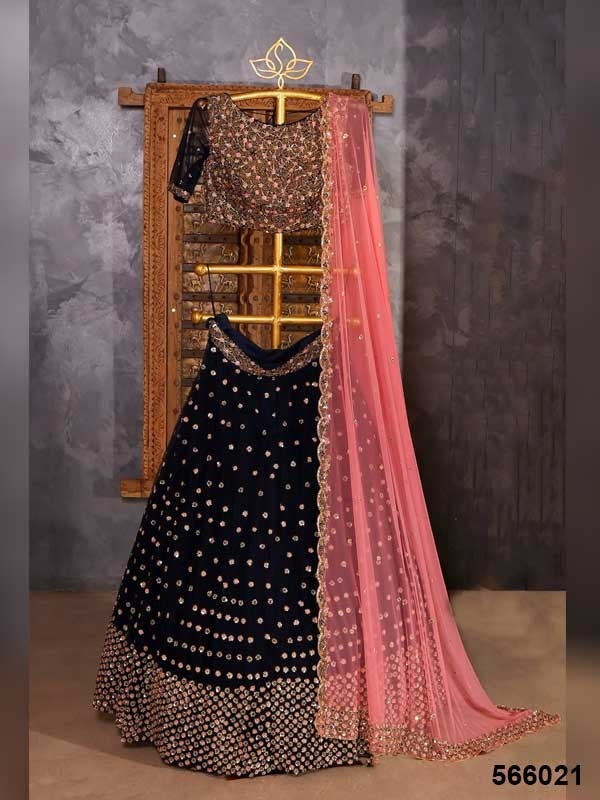 Black  Color Designer lehenga choli ws-3053