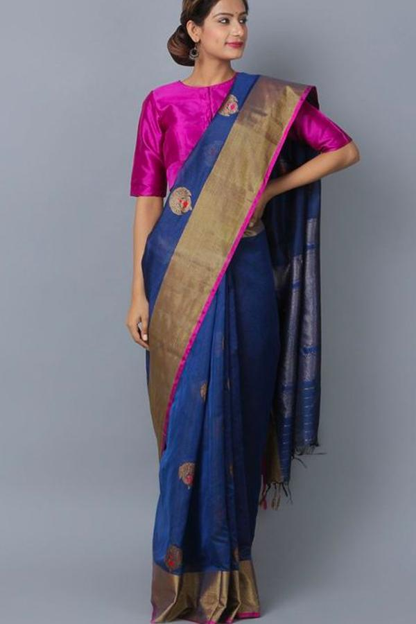 WomenStore Multi Color Soft Silk Saree Ws-036