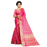 PINK COLOR UNIQUE JACQUARD WORK SILK SAREE WS-923