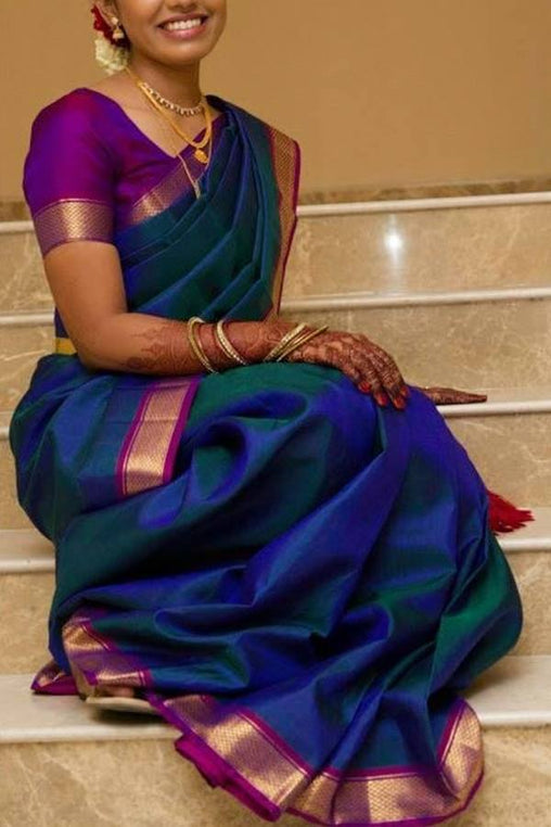 Womenstore Multie Color Soft Silk saree Ws-005