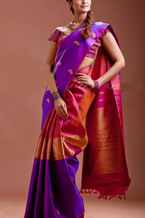 Women Store Multie Color Soft Silk Saree Ws-006