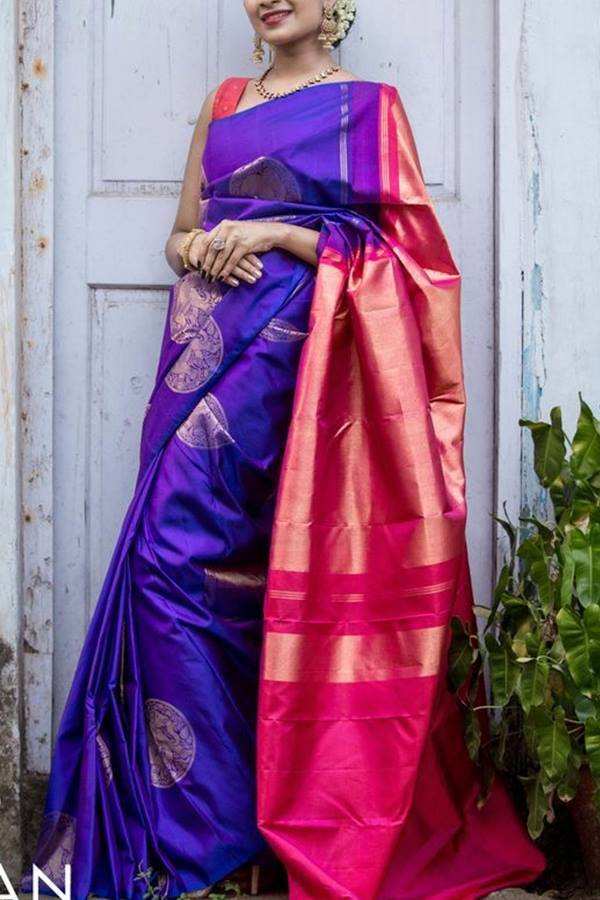 Women Store Multie Color Soft Silk Saree Ws-007