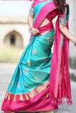 Women Store Multie Color Soft Silk Saree Ws-012