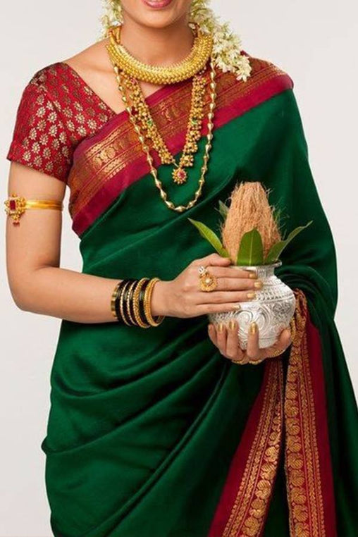 Women Store Multi Color Soft Silk Saree Ws-028