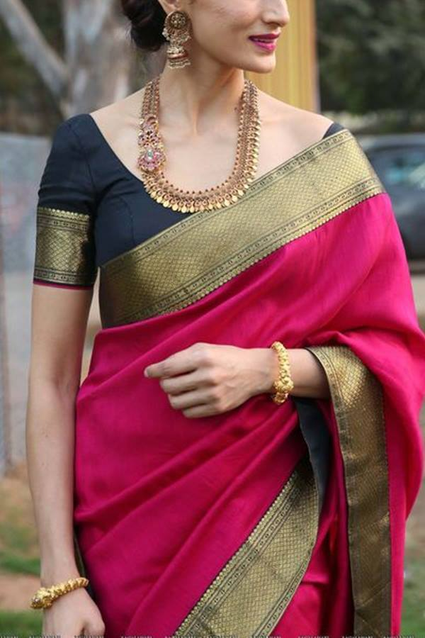 Women Store Multi Color Soft Silk Saree Ws-031