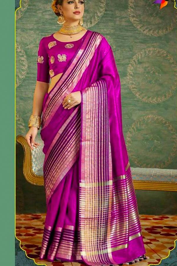 Women Store Multi Color Soft Silk Saree Ws-044