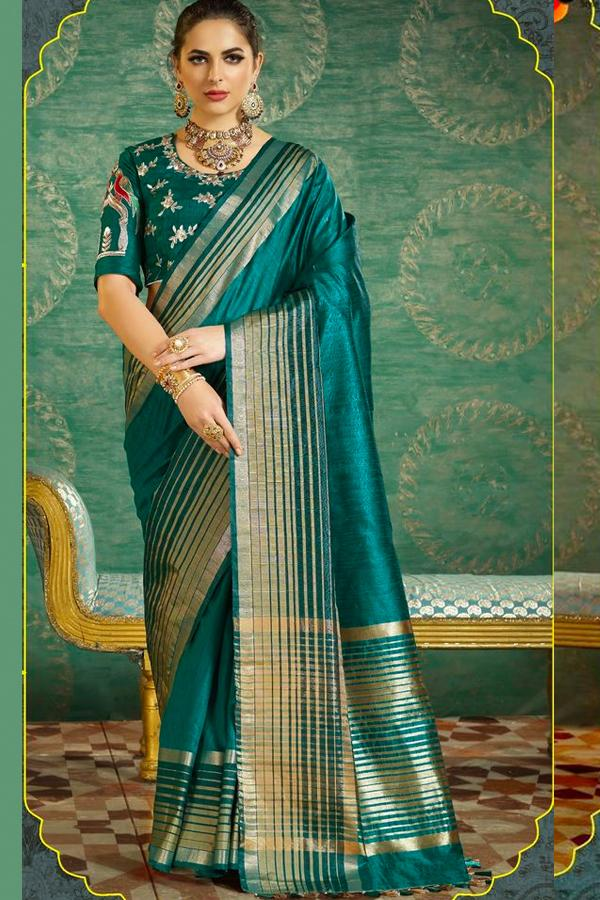 Women Store Multi Color Soft Silk Saree Ws-045