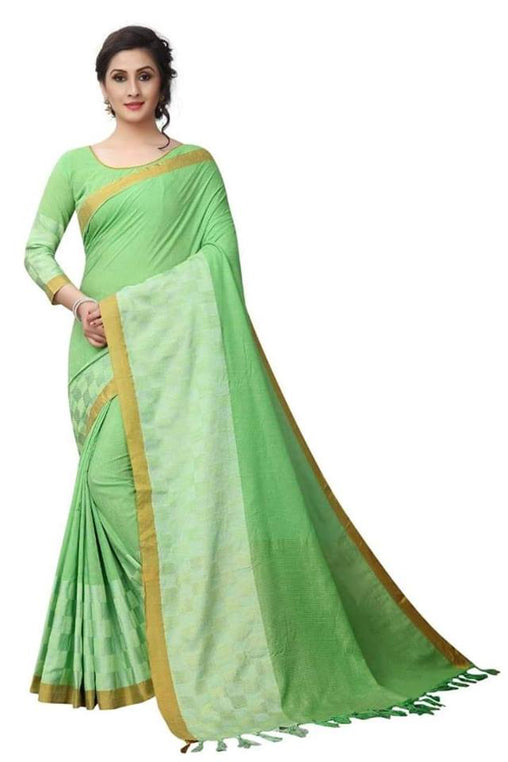 Pista Color Pure linen Saree Ws-5006