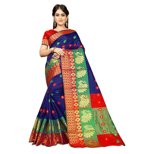 Royal blue Colour Designer Kanjivaram Saree Ws-1006