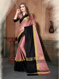 Gajari And Black Color Silk Saree