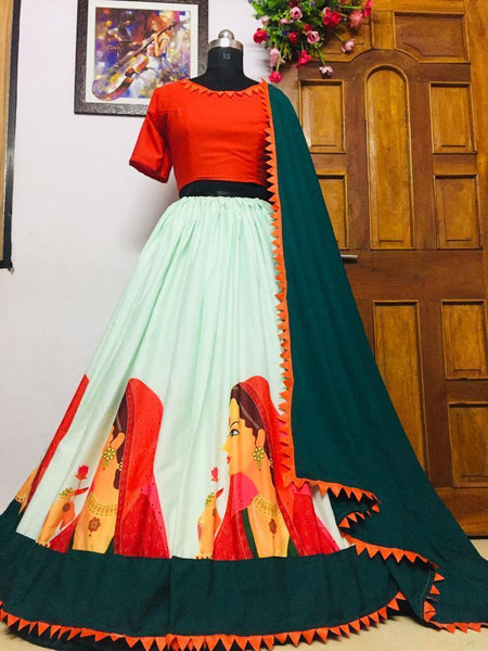 WOMEN STORE MULTI COLOR NAVRATRI SPECIAL LEHENGA CHOLI WS-2008