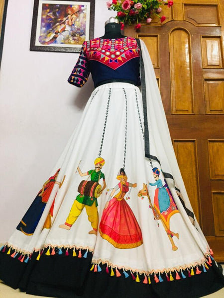 WOMEN STORE MULTI COLOR NAVRATRI SPECIAL LEHENGA CHOLI WS-2007