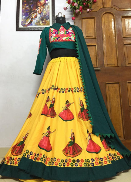 WOMEN STORE MULTI COLOR NAVRATRI SPECIAL LEHENGA CHOLI WS-2002