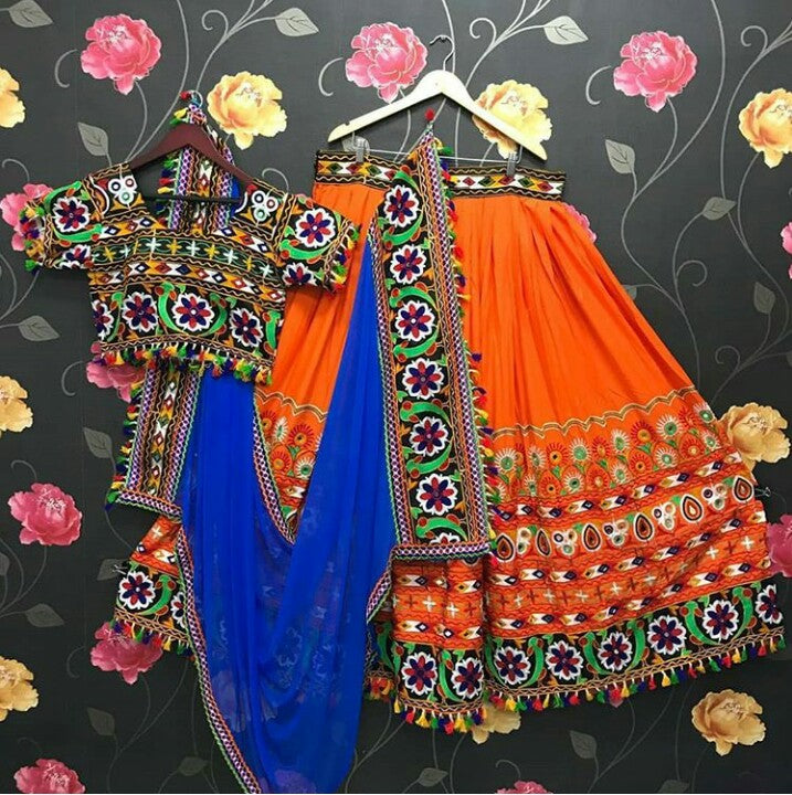 WOMEN STORE MULTI COLOR NAVRATRI SPECIAL LEHENGA CHOLI WS-2017