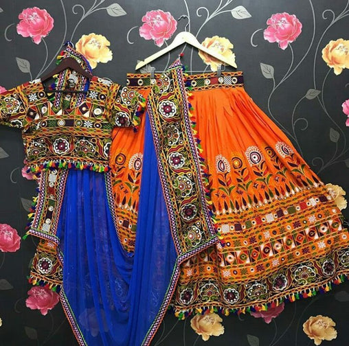 WOMEN STORE MULTI COLOR NAVRATRI SPECIAL LEHENGA CHOLI WS-2016
