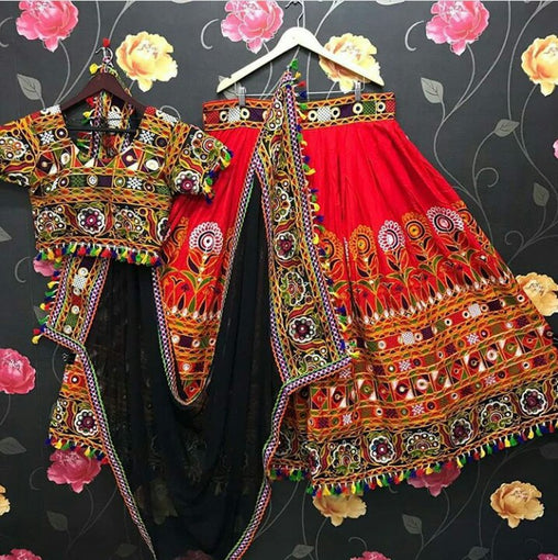 WOMEN STORE MULTI COLOR NAVRATRI SPECIAL LEHENGA CHOLI WS-2012