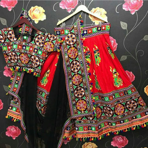 WOMEN STORE MULTI COLOR NAVRATRI SPECIAL LEHENGA CHOLI WS-2010