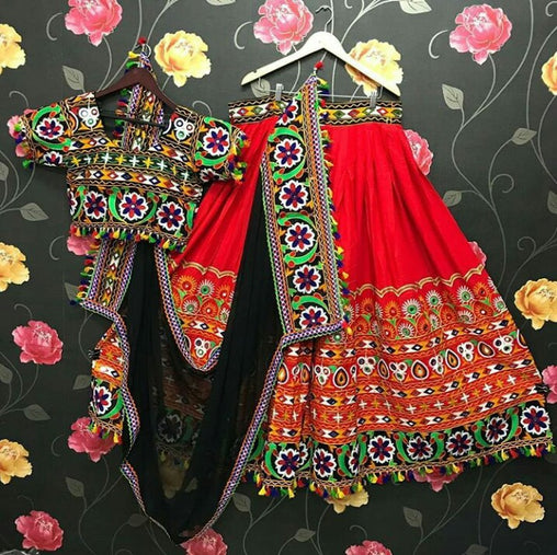 WOMEN STORE MULTI COLOR NAVRATRI SPECIAL LEHENGA CHOLI WS-2009