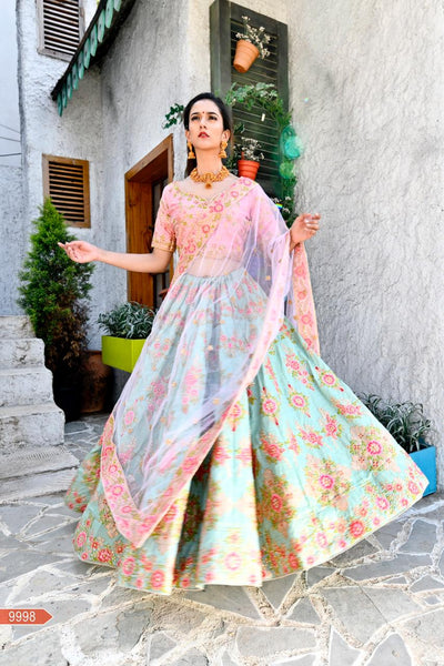 WOMEN STORE MULTI COLOUR DESIGNER LEHENGA CHOLI WS-535