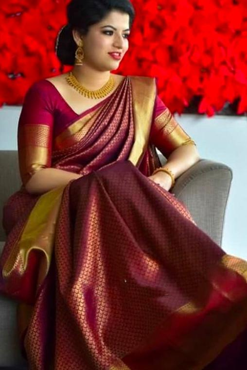 Women Store Multie Color Soft Silk Saree Ws-091
