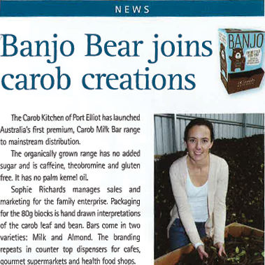 Banjo Bear Joins Carob Creations