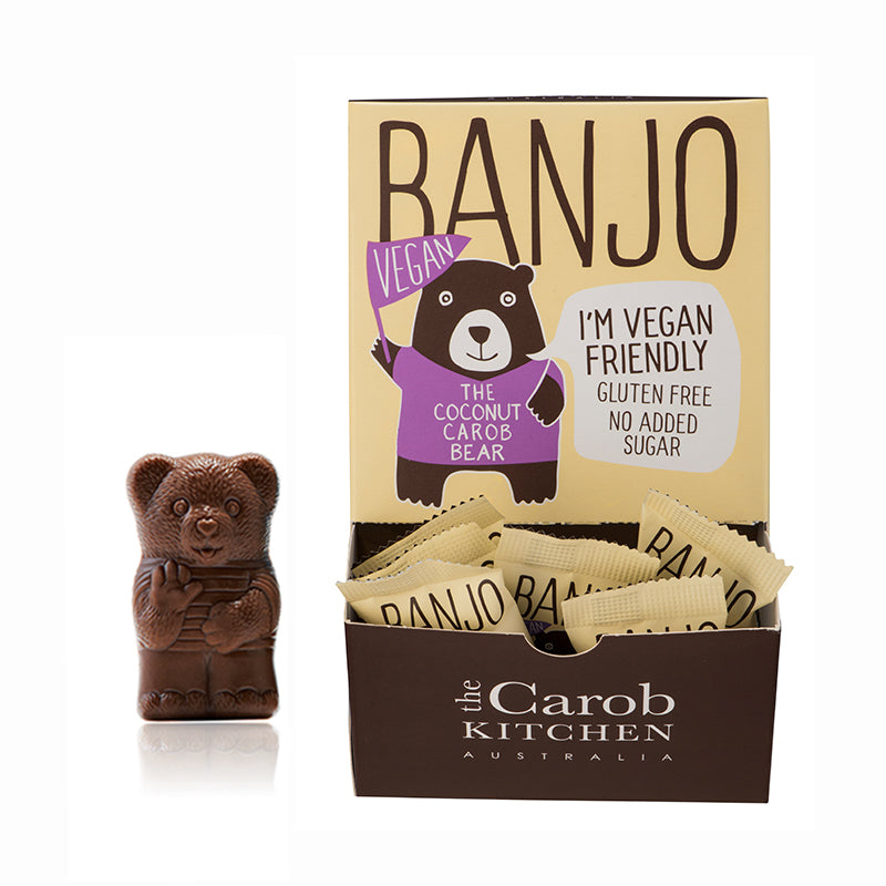 Banjo The Vegan Coconut Carob Bear | 50 Bear Carton