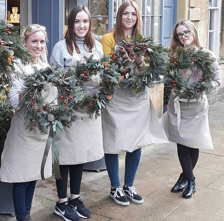 Christmas Wreath Workshop Cotswolds 3rd December 2020
