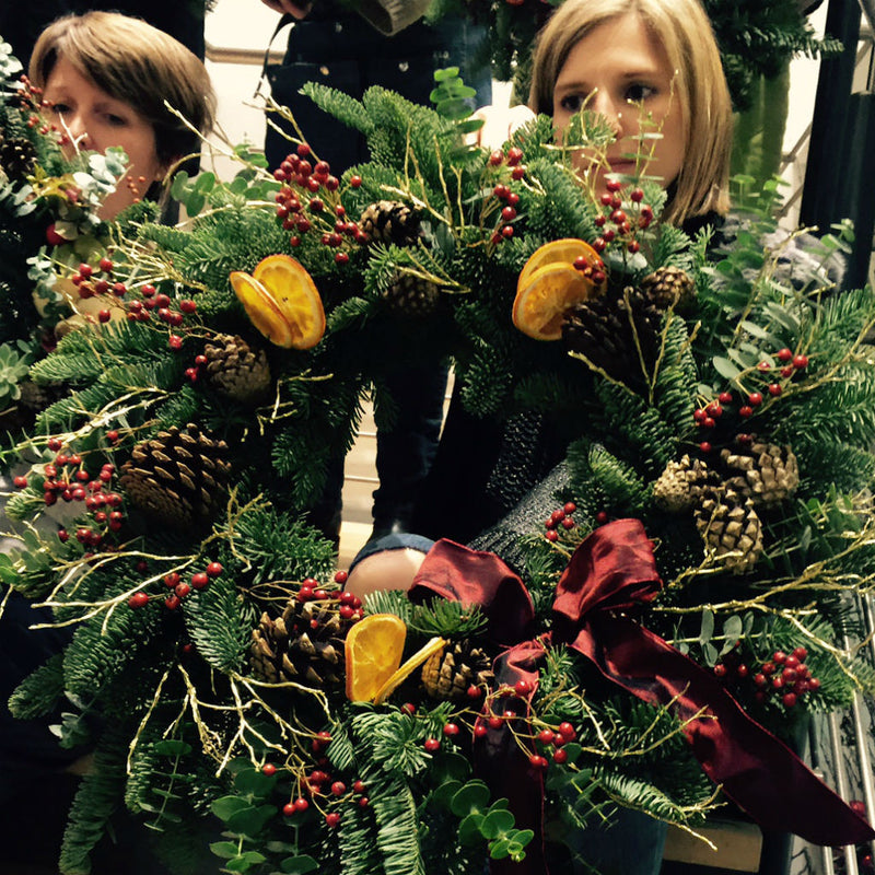 Christmas Wreath Workshop Cotswolds 15th December 2020